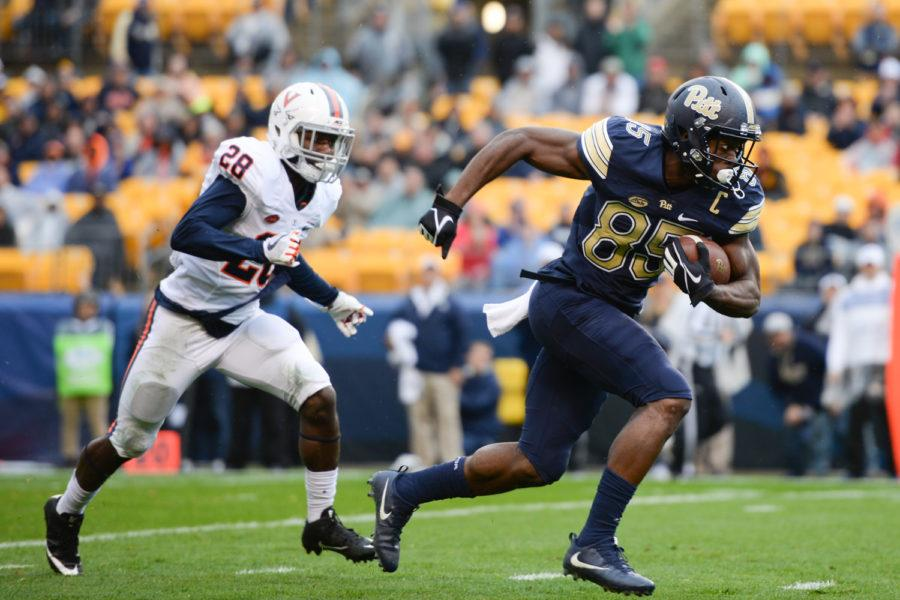 Senior+wide+receiver+Jester+Weah+%2885%29+is+one+of+7+Pitt+football+players+invited+to+the+NFL+Combine.+%28Photo+by+Thomas+J.+Yang+%7C+Visual+Editor%29