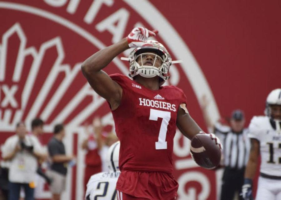 Taysir Mack is a transfer from Indiana University who recently signed on to be a wide receiver for Pitt's football team beginning in 2019. (Photo courtesy of Ty Vinson | Indiana Daily student)