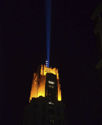 Pitt tests victory lights, new spotlight, prompting theories on Twitter
