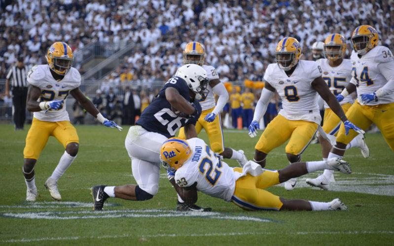 Pitt linebacker Oluwaseun Idowu (23) is entering his senior season after leading the Panthers in tackles last year.