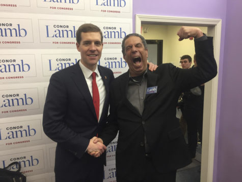 Democratic Congressional candidate Conor Lamb, left, and Jon