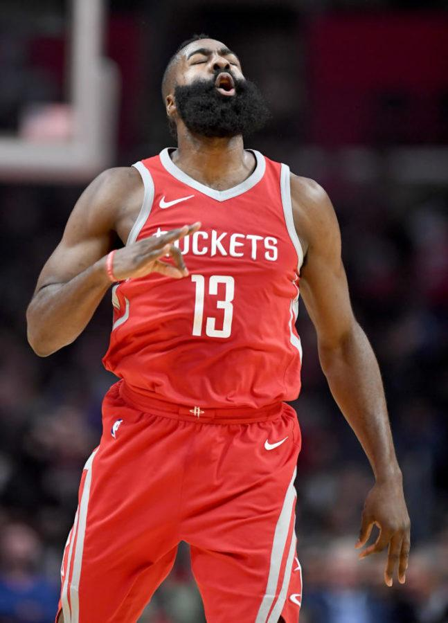 The+Houston+Rockets%E2%80%99+James+Harden+celebrates+a+3-pointer+against+the+Los+Angeles+Clippers+at+the+Staples+Center+in+Los+Angeles+Wednesday%2C+Feb.+28%2C+2018.+%28Wally+Skalij%2FLos+Angeles+Times%2FTNS%29%0A