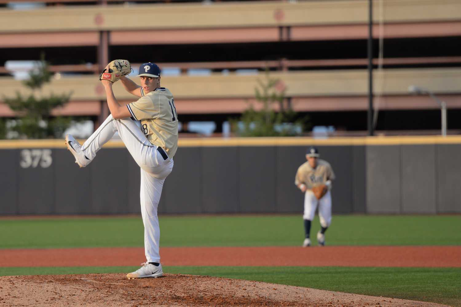 Sophomore pitcher Dan Hammer (18) allowed two runs over 3.1 innings in Pitt's 5-2 loss to Louisville Saturday afternoon. (TPN File Photo)