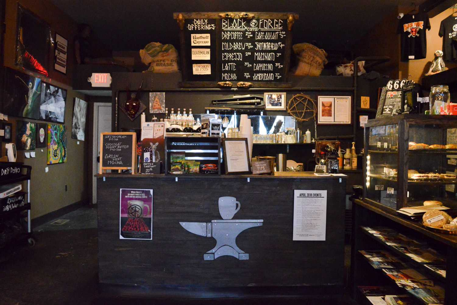 The interior of the Black Forge Coffee House. (Photo by Issi Glatts   Assistant Visual Editor)