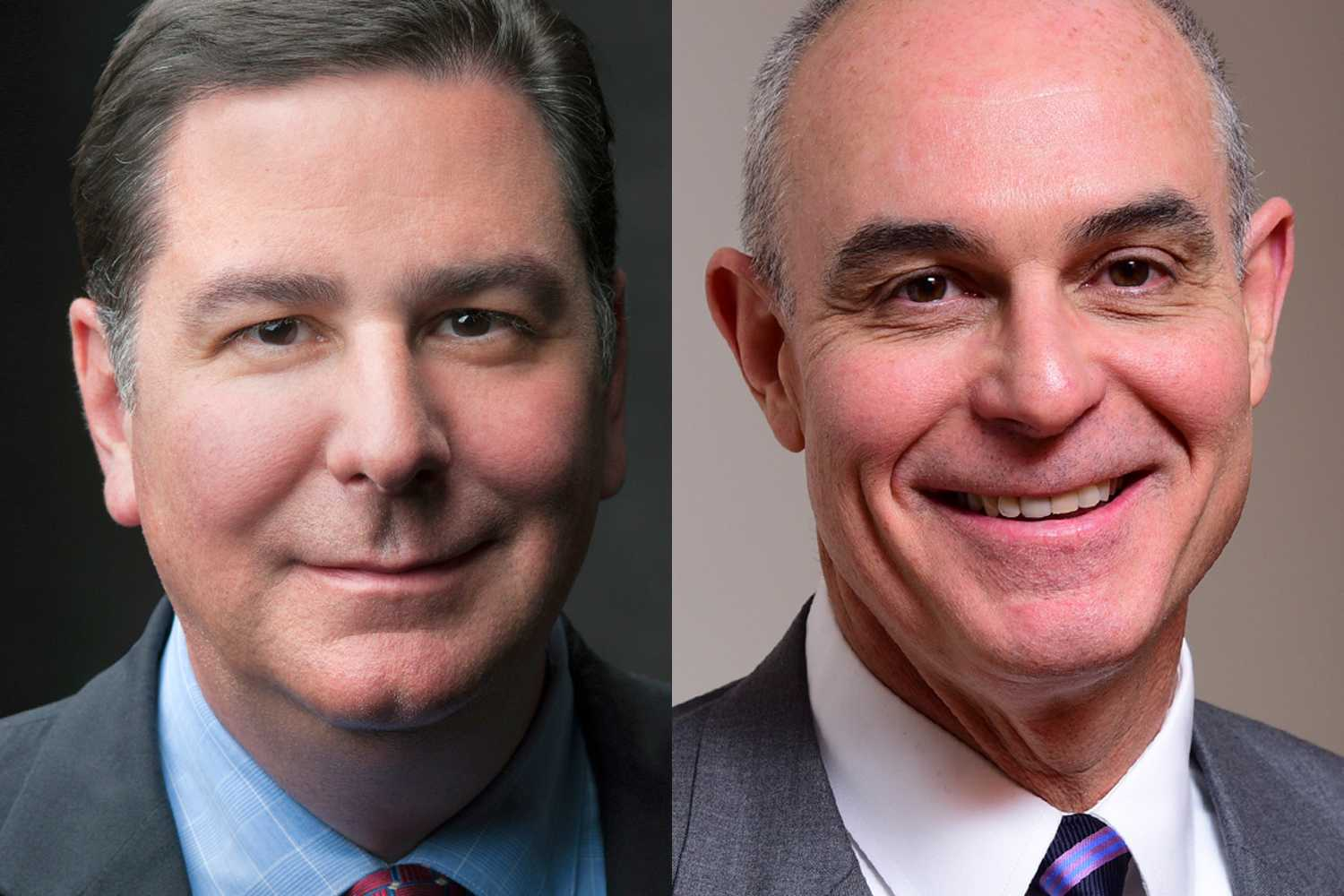 Pittsburgh mayor Bill Peduto (left) will speak at the undergraduate commencement ceremony, while appellate attorney and partner at Kellogg, Hansen, Todd, Figel & Frederick law firm, David C. Frederick (right), will speak at the master's, professional doctoral and doctoral degrees graduation. (Images via University of Pittsburgh)