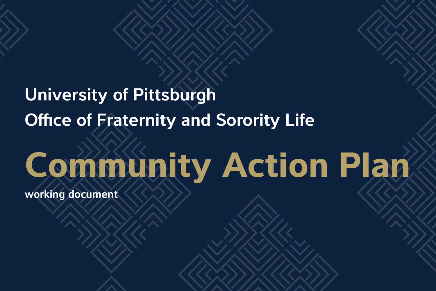 Pitt recently released a working action plan for Greek life following incidents during the Spring 2018 semester. (Image via University of Pittsburgh)