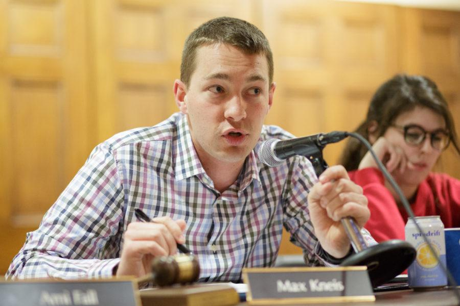 Under President Max Kneis, SGB has covered major issues from medical amnesty to offering alternatives to the rising costs of textbooks. (Photo by Thomas Yang | Visual Editor)