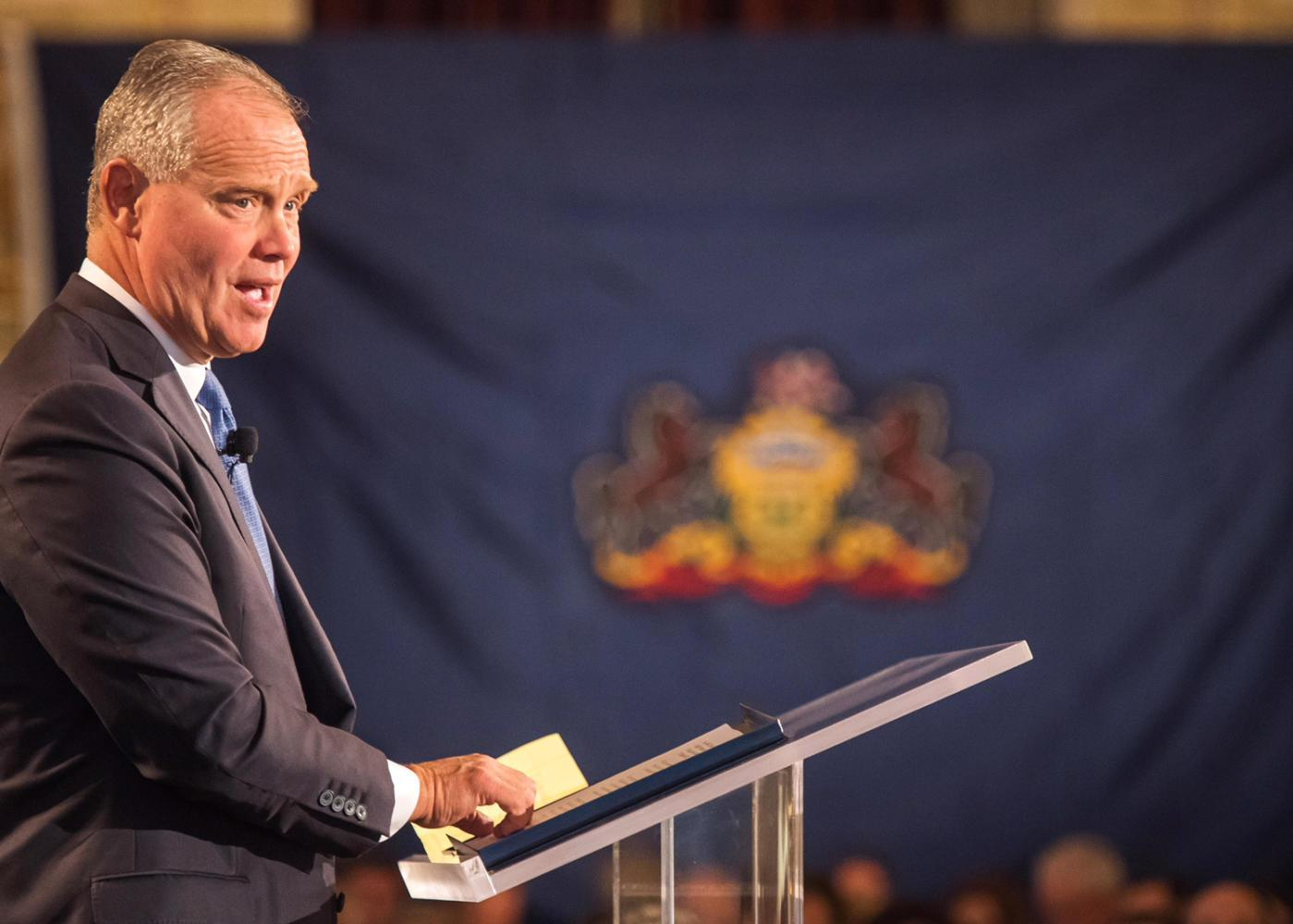 House Speaker Mike Turzai delivering a speech in October. (Image via Wikimedia Commons)