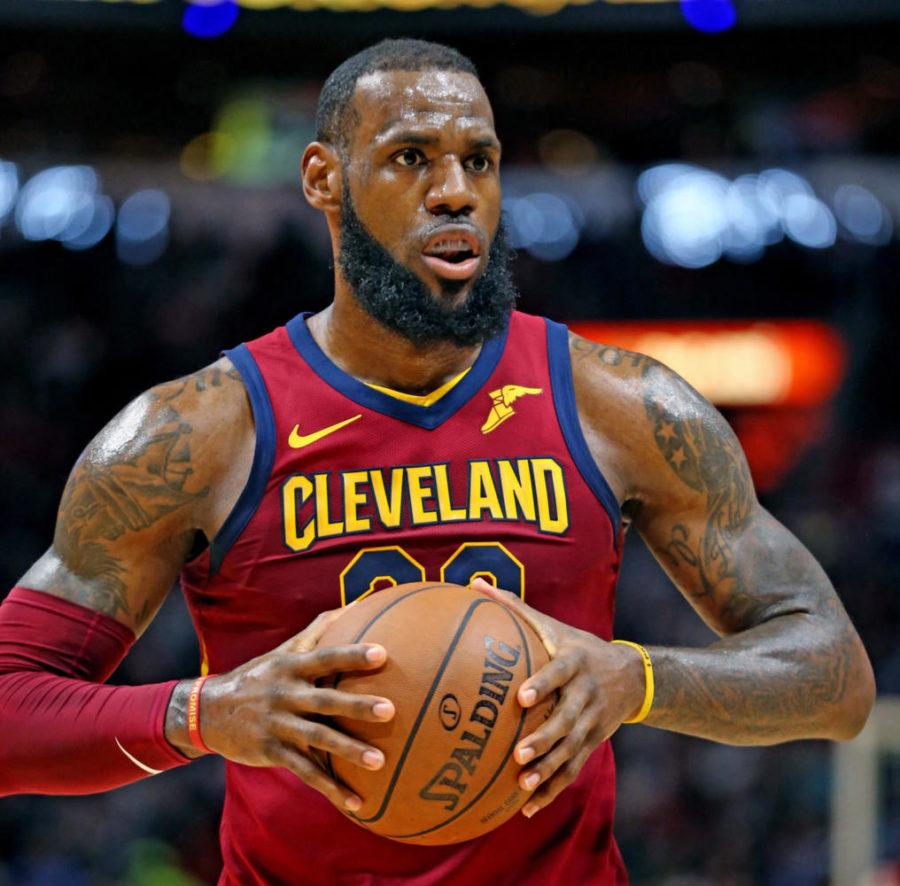 The+Cleveland+Cavaliers%E2%80%99+LeBron+James+on+the+court+against+the+Miami+Heat+in+Miami+March+27.+%28Charles+Trainor+Jr.%2FMiami+Herald%2FTNS%29