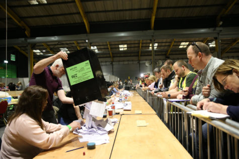 Votes poured in May 25 in Dublin for the referendum on the Eighth Amendment of the Irish Constitution, which prohibited abortions unless a mother's life was in danger. The Irish voted 66.4 percent in favor to repeal the amendment. (Photo courtesy of Brian Lawless/PA/Abaca Press/TNS)