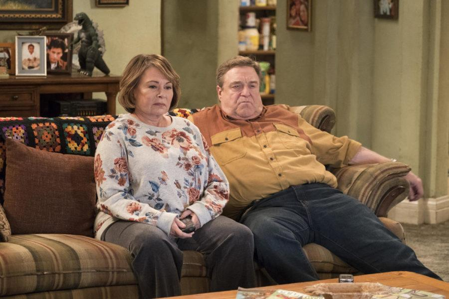 Roseanne+Barr+and+John+Goodman+in+%22Roseanne.%22+ABC+cancelled+the+show+after+Barr+tweeted+%E2%80%9Cabhorrent%22+racist+comments+about+former+Obama+adviser+Valerie+Jarrett.+%28Photo+courtesy+of+Adam+Rose%2FABC%29