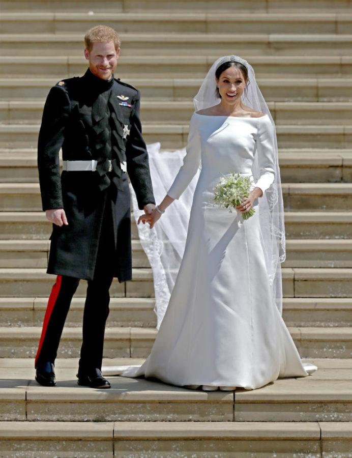 Prince+Harry+and+Meghan+Markle+married+in+St.+George%E2%80%99s+Chapel+at+Windsor+Castle+Saturday%2C+May+19.+The+couple+holds+the+titles+of+Duke+and+Duchess+of+Sussex.+%28Photo+courtesy+of+Jane+Barlow%2FPA+Wire%2FAbaca+Press%2FTNS%29