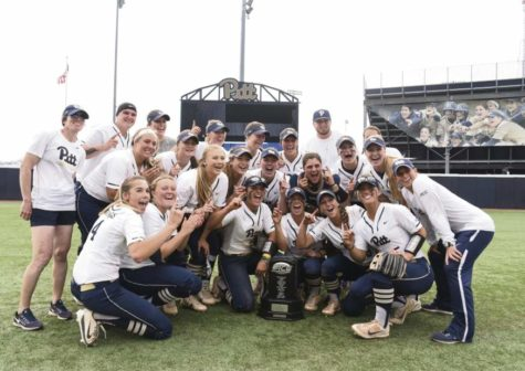 The Panthers earned their first ACC softball championship with a victory Friday against Louisville. (Photo via Pitt Athletics)