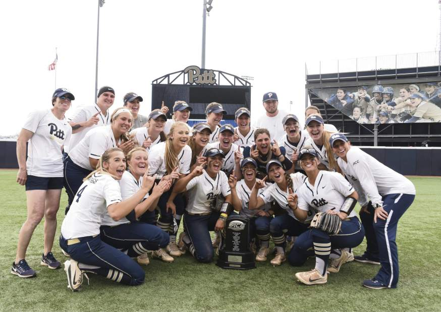 The+Panthers+earned+their+first+ACC+softball+championship+with+a+victory+Friday+against+Louisville.+%28Photo+via+Pitt+Athletics%29