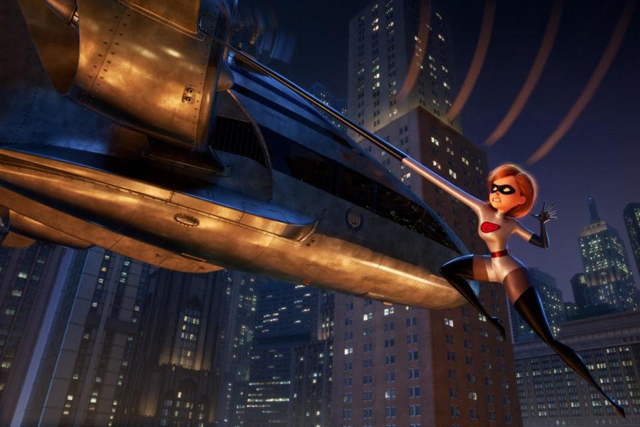 Holly Hunter voices Helen, aka Elastigirl, in the animated film,