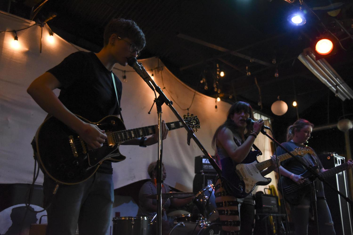 Full Bush, a heavy post-punk band based out of Philadelphia, traveled to Pittsburgh to perform at Ladyfest Sunday evening. (Photo by Anna Bongardino | Visual Editor)