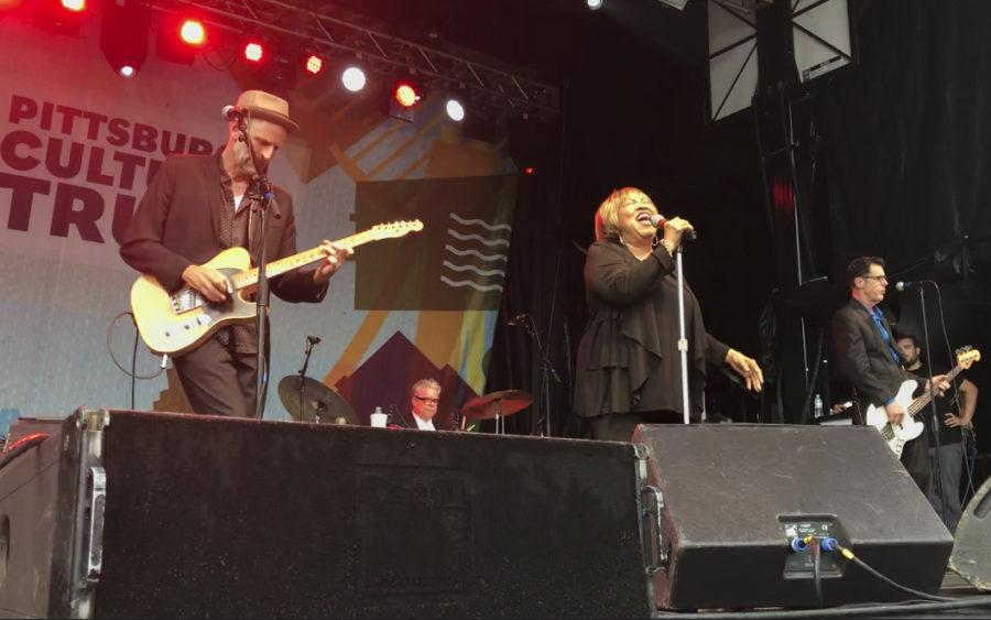 Mavis Staples, 78, the last original member of her family's group, The Staple Singers, was the first musical act to perform at this year's Three Rivers Arts Festival. (Photo by Darren Campuzano | Staff Writer)