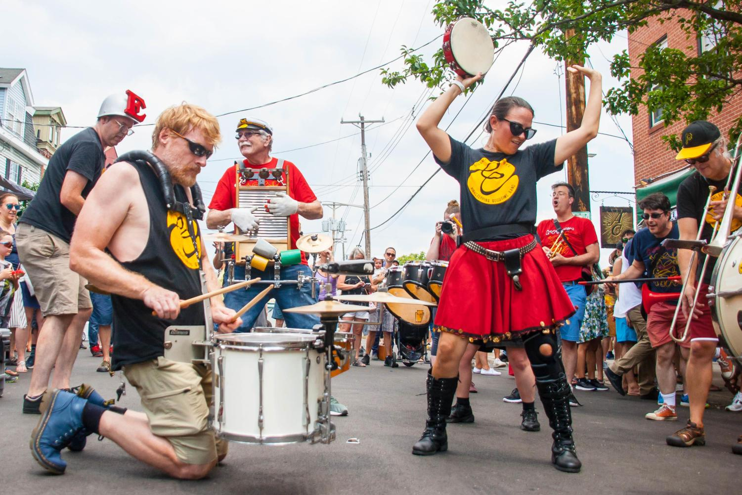 Colonel Eagleburger's Highstepping Goodtime Band stops the crowd with their high energy performance.