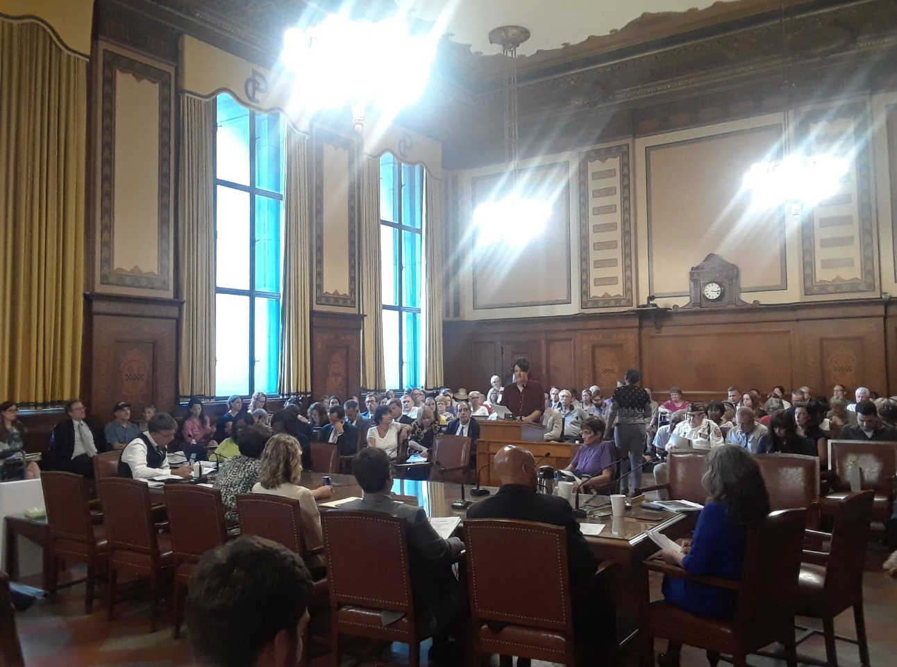 Over 150 people gathered at Pittsburgh City Council to voice their concerns surrounding UPMC Mercy's planned expansion, which comes as part of the hospital system's $2 billion plan to construct three new hospitals around the City.