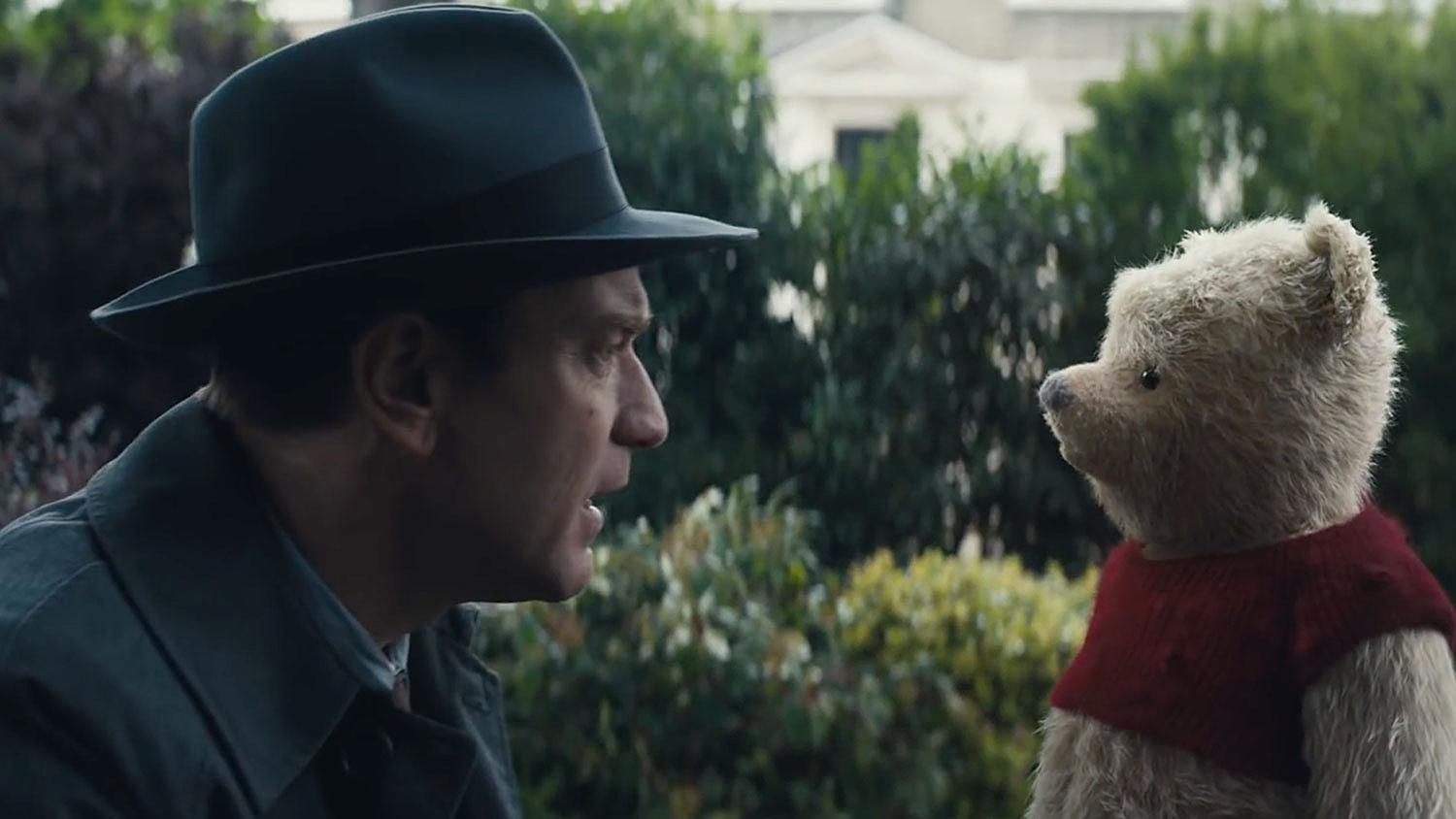Ewan McGregor plays Christopher Robin and Tim Cummings is the voice for Winnie the Pooh in the family-friendly film released Aug. 3. (Photo via TNS/Disney)