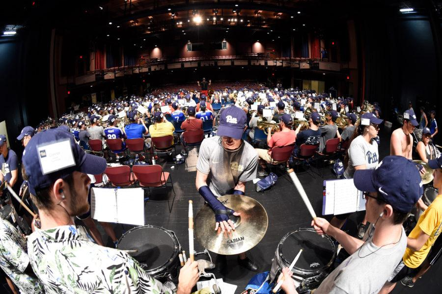 Pitt's band practiced at Pitt Bradford's campus last year in preparation for the upcoming football season. (Photo courtesy of Harry Bloomberg)