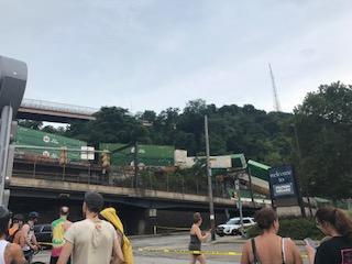 Train derails near Station Square