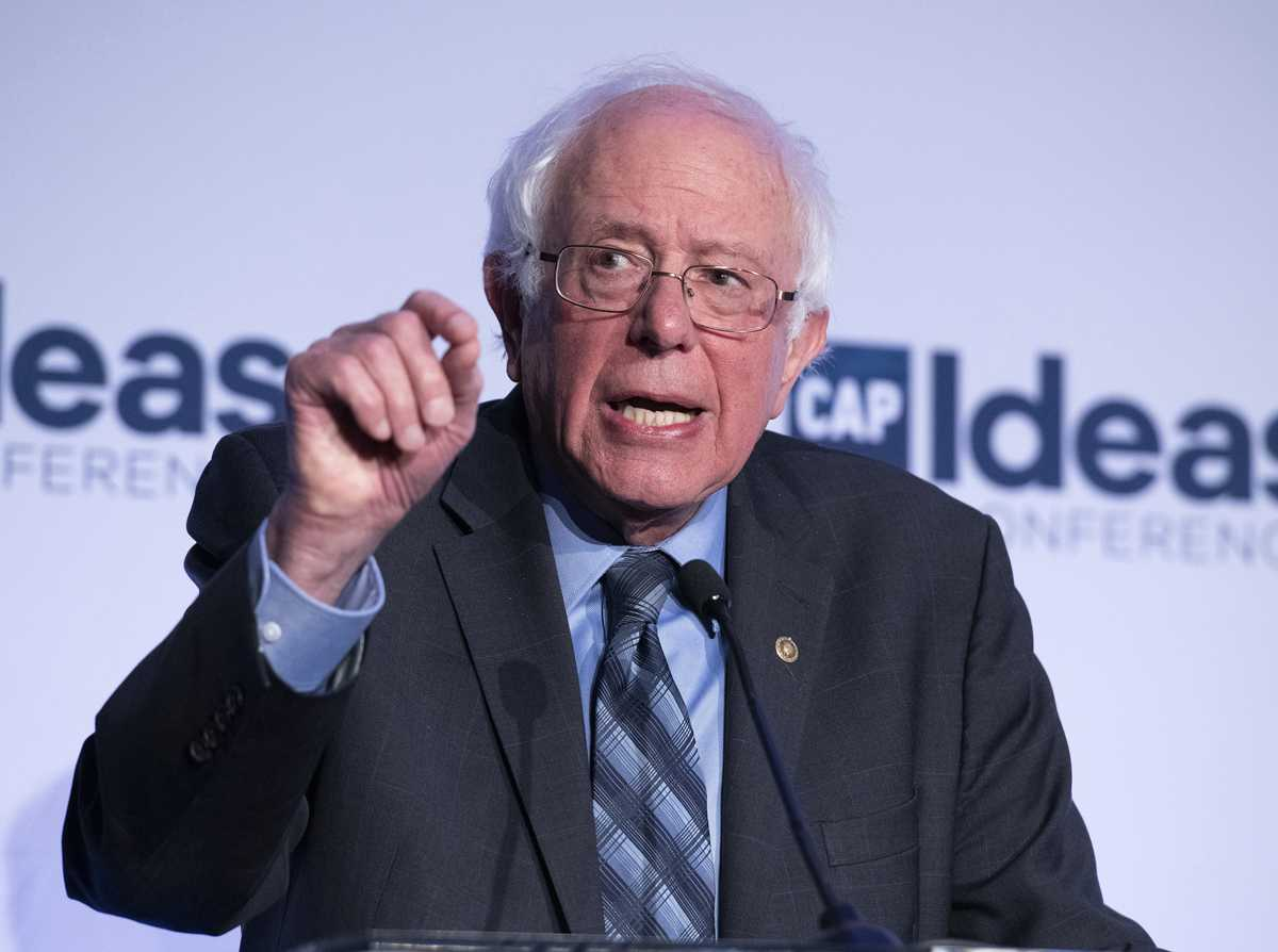 U.S. Sen. Bernie Sanders makes remarks at the Center for American Progress' 2018 Ideas Conference on Tuesday, May 15, at the Renaissance Hotel in Washington, D.C. (Ron Sachs/CNP/Zuma Press/TNS)
