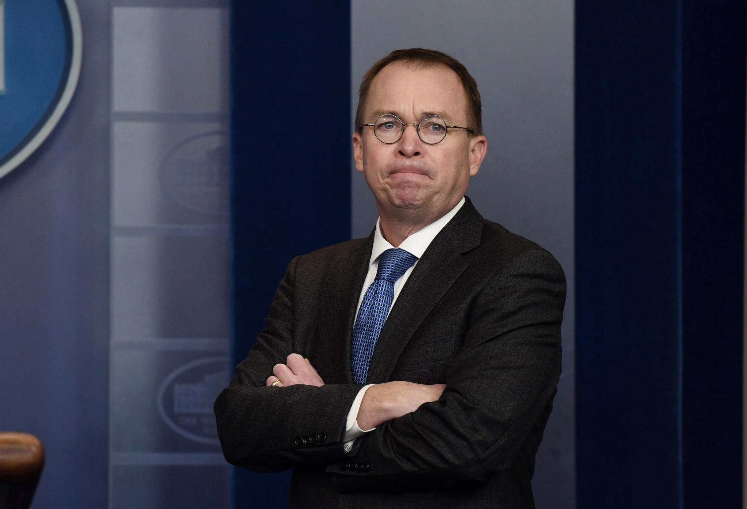 Office of Management and Budget Director and Acting Director fo the Consumer Financial Protection Bureau Mick Mulvaney Jan. 19, 2018 in the White House in Washington, D.C. The CFPB's Student Loan Ombudsman Seth Frotman resigned Monday, citing political differences. (Olivier Douliery/Abaca Press/TNS)