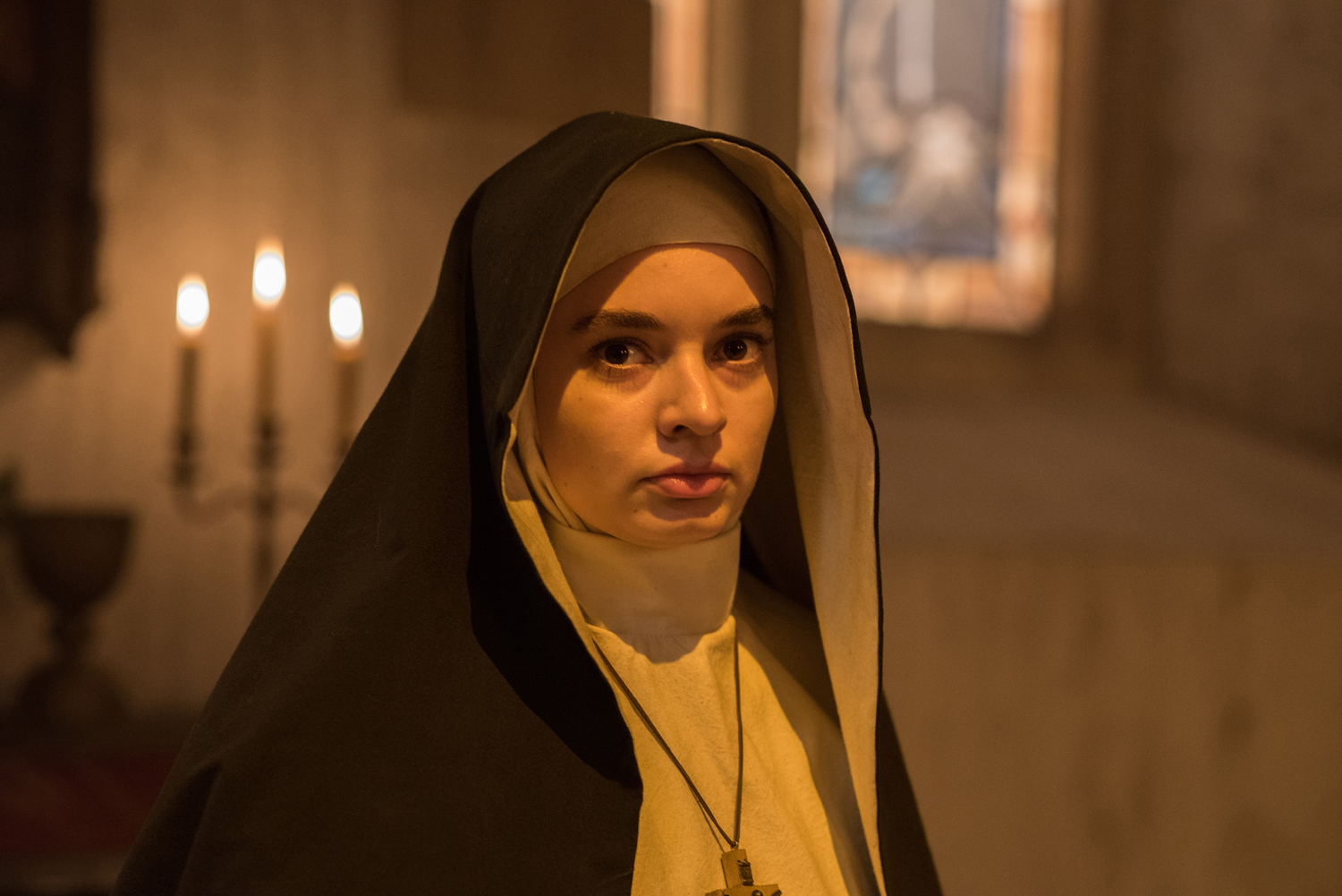"Ingrid Bisu plays Sister Oana in ""The Nun,"" a horror film released Thursday."