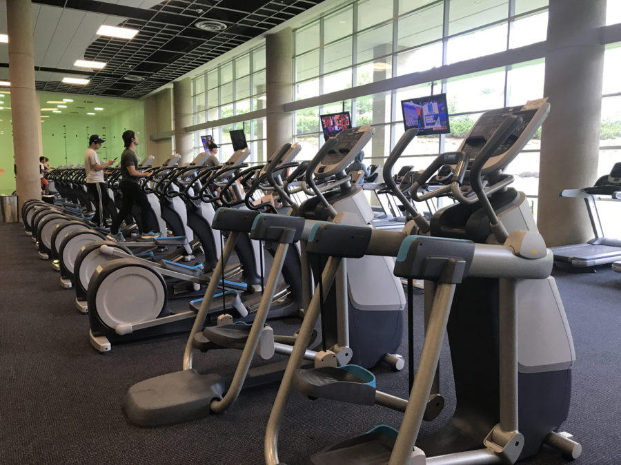The+Baierl+Student+Recreation+Center+in+the+Petersen+Events+Center+is+a+popular+workout+location+for+students.