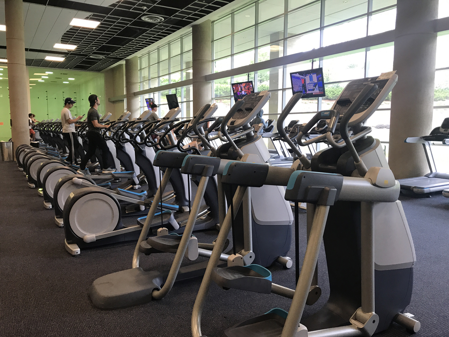 The Baierl Student Recreation Center in the Petersen Events Center is a popular workout location for students.