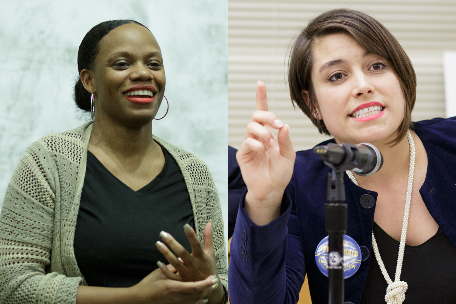 Summer Lee (left), contender for Pennsylvania's State House District 34, and Sara Innamorato (right), contender for the District 21 seat, will run unopposed in their respective districts in the upcoming November general election. (TPN File Photo)