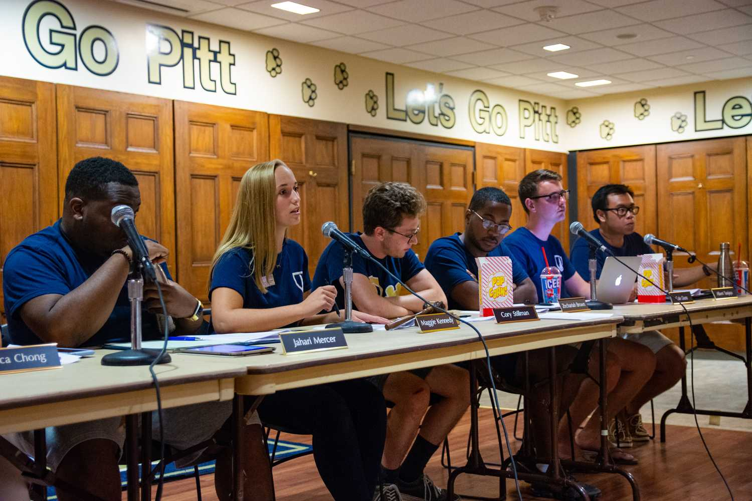 President Maggie Kennedy leads SGB's first public meeting of the semester Tuesday night. (Photo by Bader Abdulmajeed | Staff Photographer)