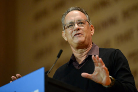 Tom Hanks brings voting hype to Pittsburgh
