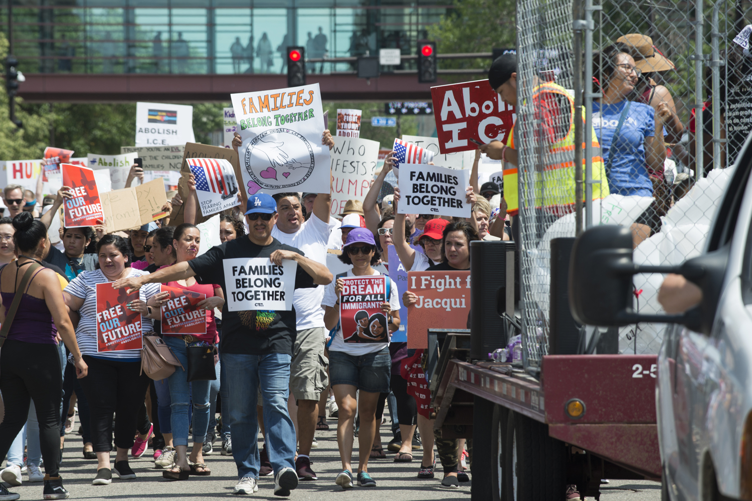 Several thousand people gathered in Minneapolis this June to call for the abolishment of U.S. Immigration and Customs Enforcement after policies enacted by the Trump administration separated migrant children from their parents.