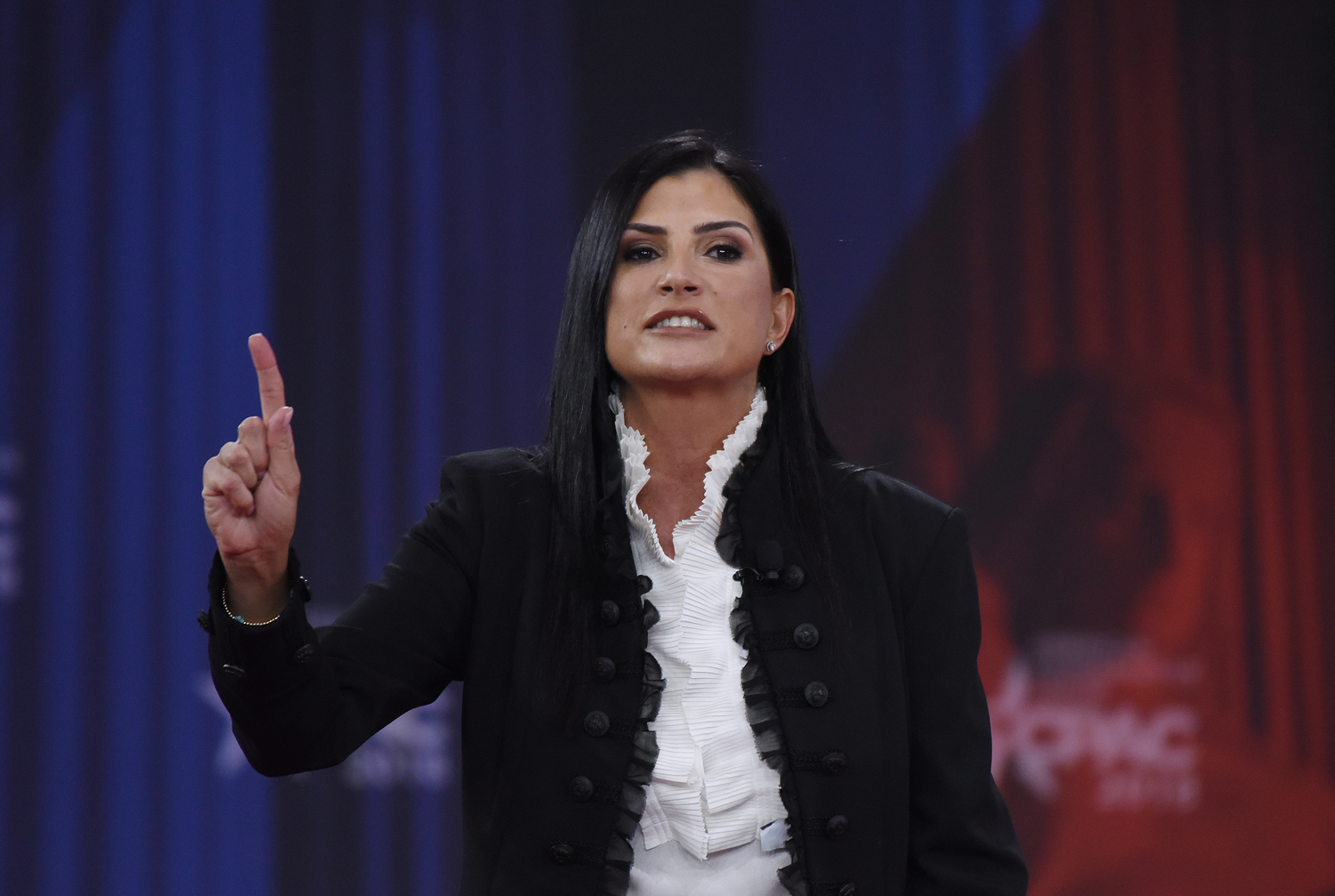 NRA spokeswoman Dana Loesch speaks during the Conservative Political Action Conference in National Harbor, Maryland, on Feb. 22.