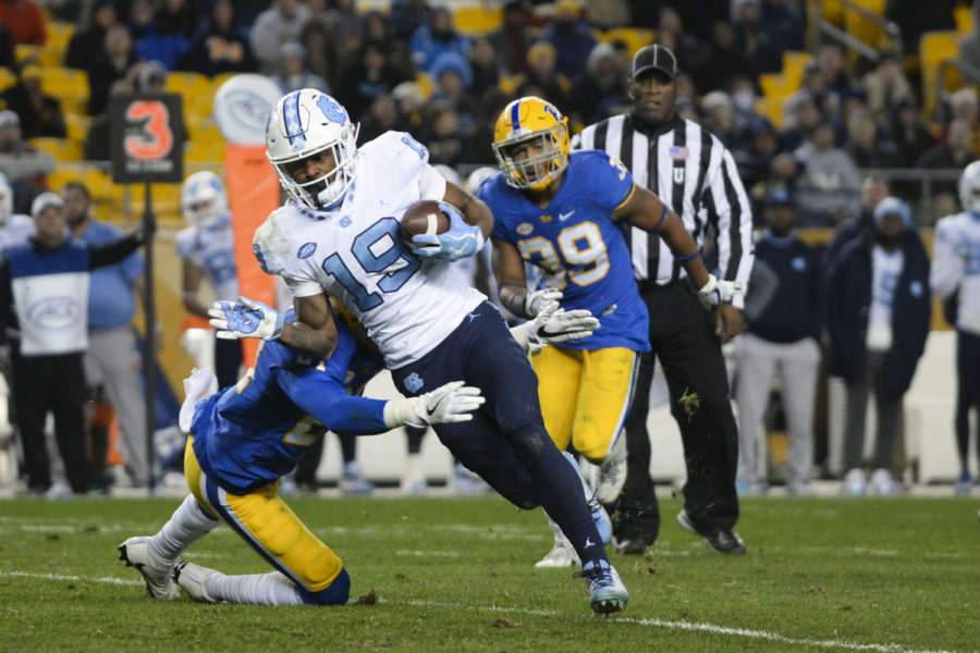 The North Carolina Tar Heels defeated Pitt 34-31 in the team's matchup at Heinz Field last November.