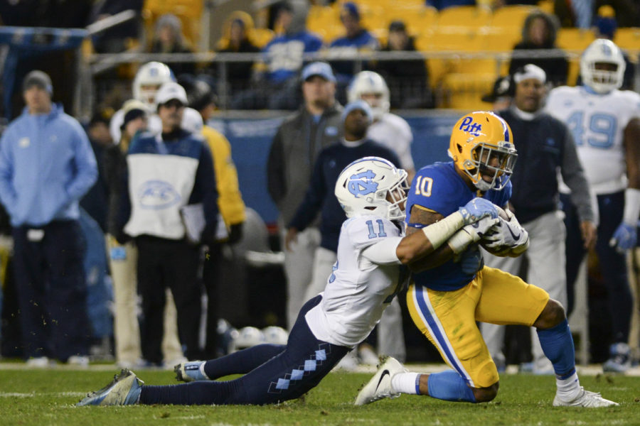 The North Carolina Tar Heels defeated the Panthers 34-31 at Heinz Field last November.