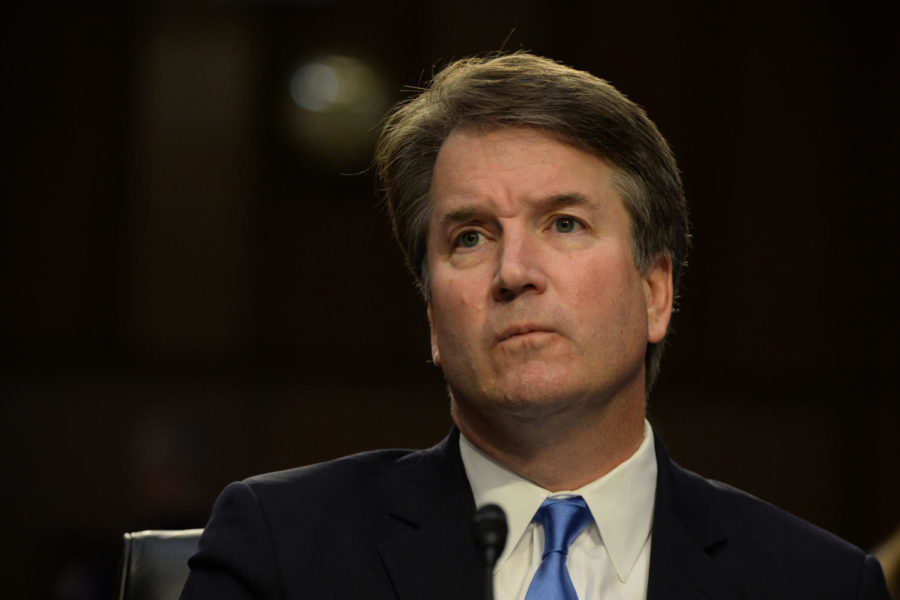 Supreme Court Associate Justice nominee Brett Kavanaugh at his confirmation hearing before the Senate Judiciary Committee in the Hart Senate Office Building in Washington, D.C., on Sept. 5. (Christy Bowe/Globe Photos/Zuma Press/TNS)