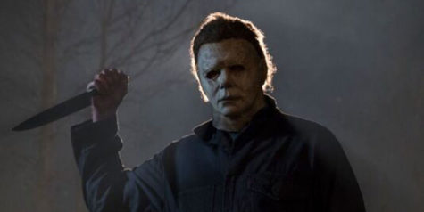 "The character Michael Myers in the 2018 ""Halloween"" film."