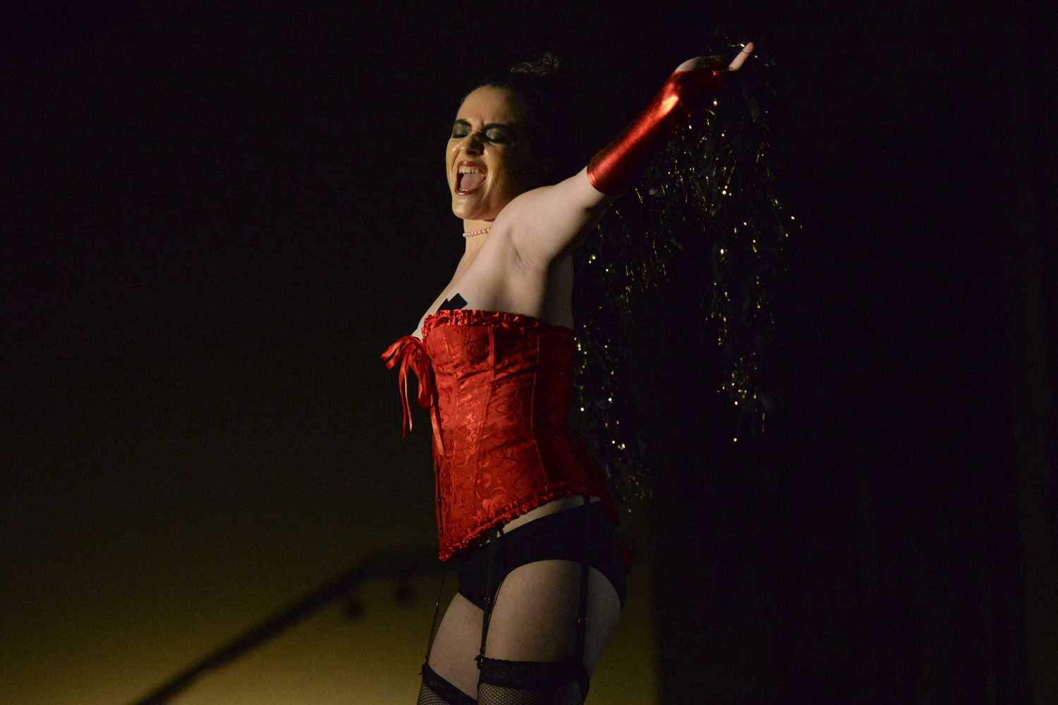 Then-senior Delena Obermaier played the role of Dr. Frank-N-Furter at Pitt's production of