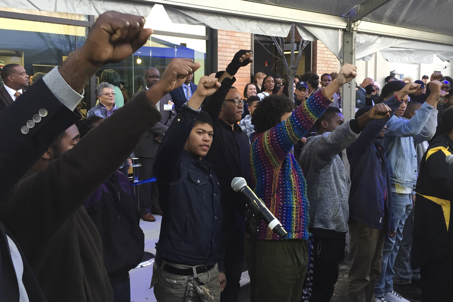 Youth members of Homewood's Afro American Music Institute performed in front of a crowd of more than one hundred people Thursday evening.