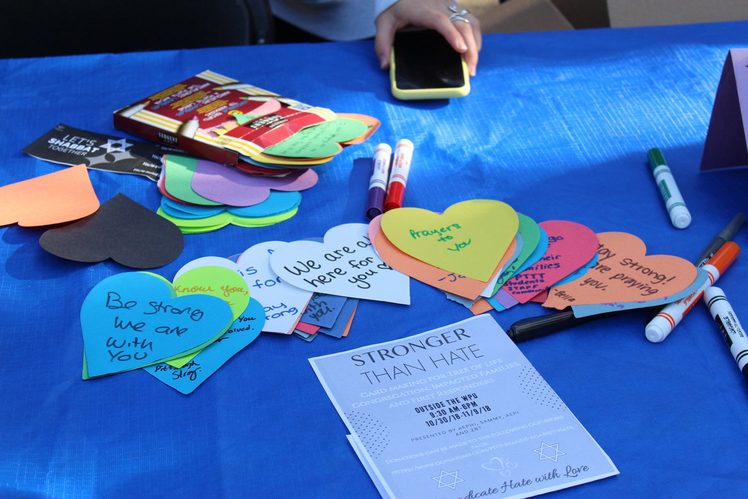 Jewish Pitt Greek life organizations will make appreciation cards for the Tree of Life Congregation over the next two weeks.