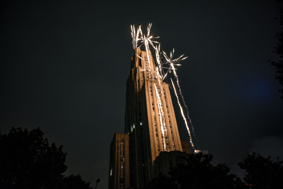 This+year%E2%80%99s+Homecoming+Laser+%26+Fireworks+Show%2C+hosted+by+Pitt+Program+Council%2C+took+a+staff+of+seven+Zambelli+Fireworks+employees+several+hours+to+set+up.+