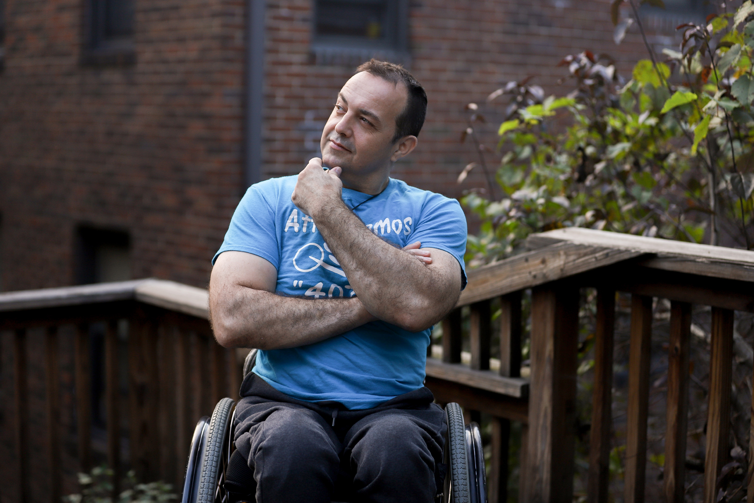 Attila Domos started handcycling in 2009 in preparation for the 2010 Pittsburgh marathon.
