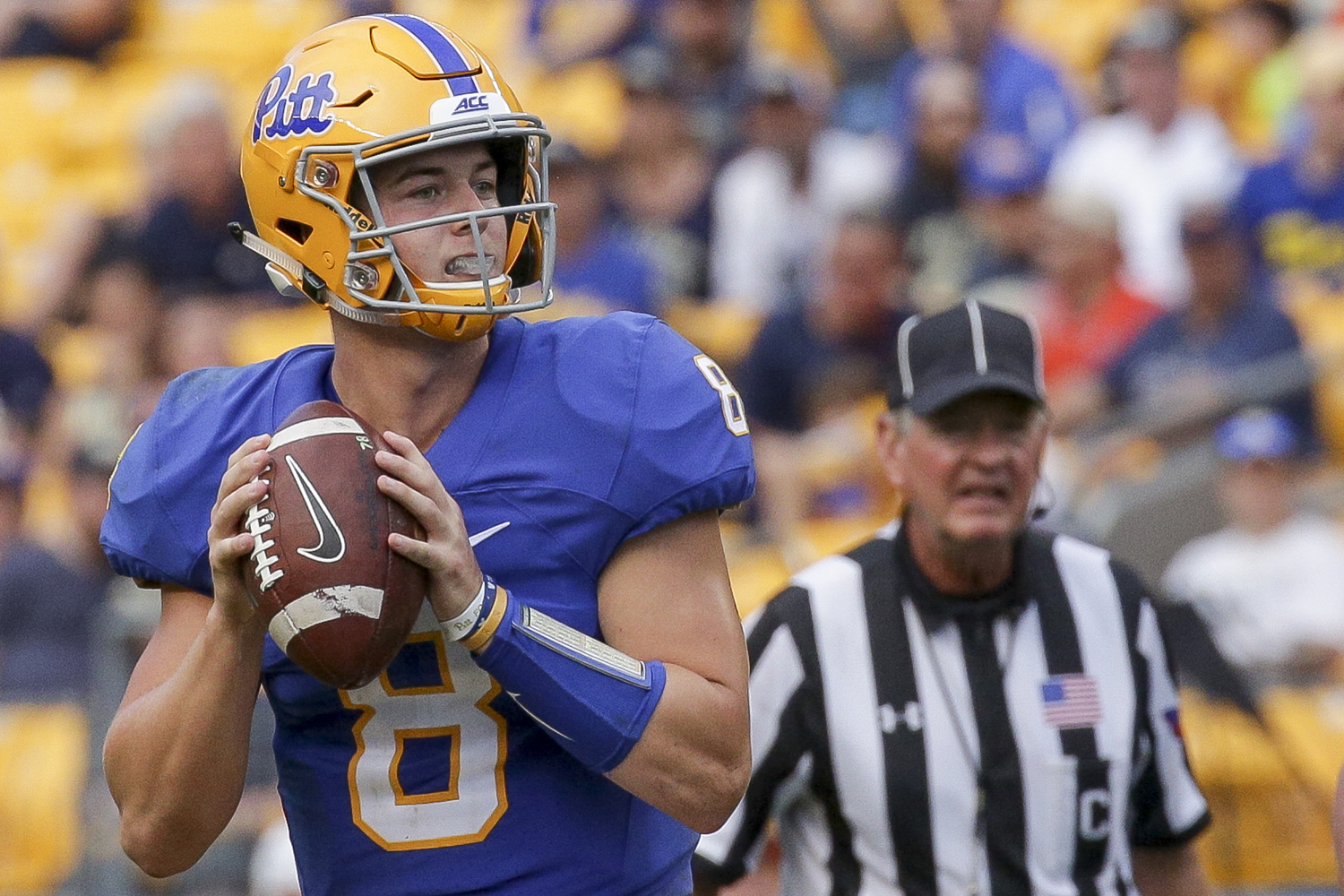 The 61-year-old Whipple, who brings almost 40 years of coaching experience to the table, will look to mentor quarterback Kenny Pickett (pictured) in an effort to revitalize Pitt's 92nd-ranked offense.