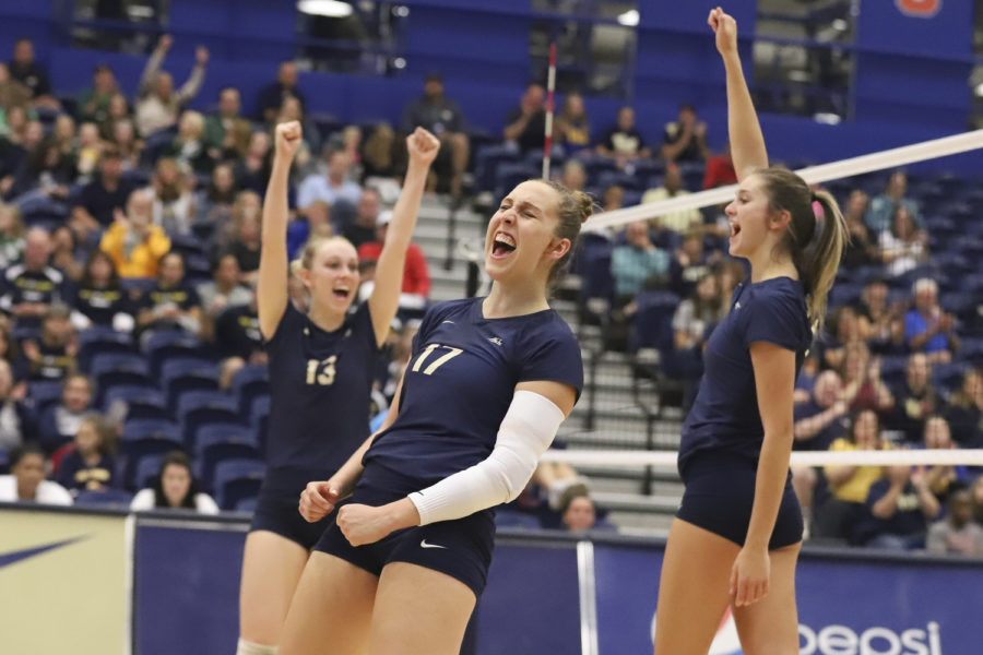 Junior+Nika+Markovic+%2817%29+celebrated+Pitt%E2%80%99s+3-1+victory+over+Florida+State+Sept.+30.