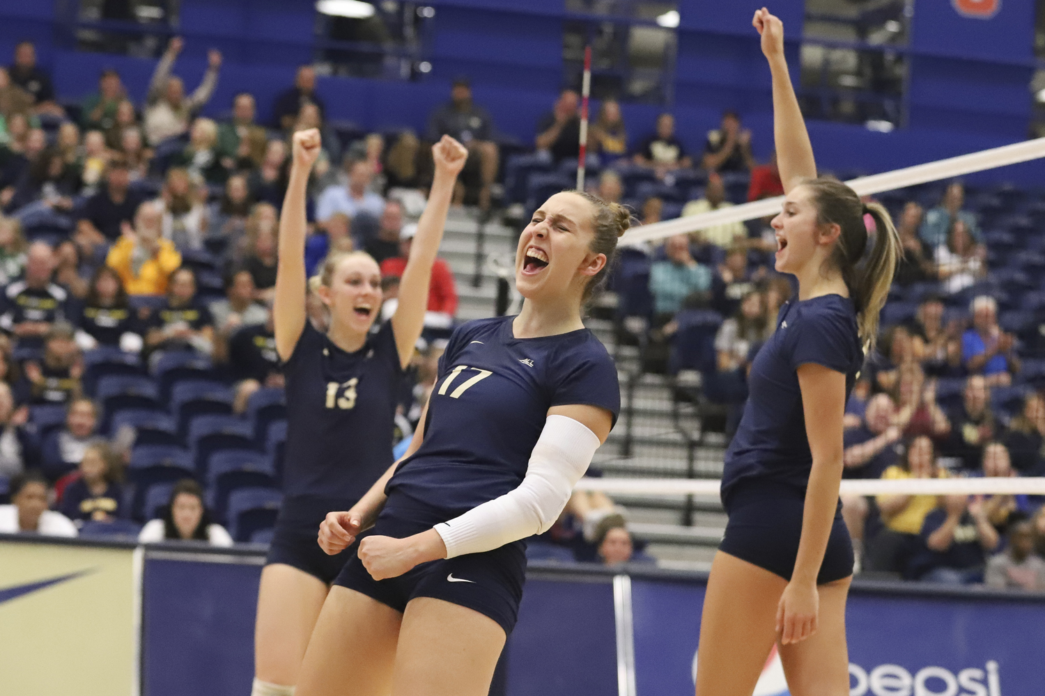 Junior Nika Markovic (17) celebrated Pitt's 3-1 victory over Florida State Sept. 30.