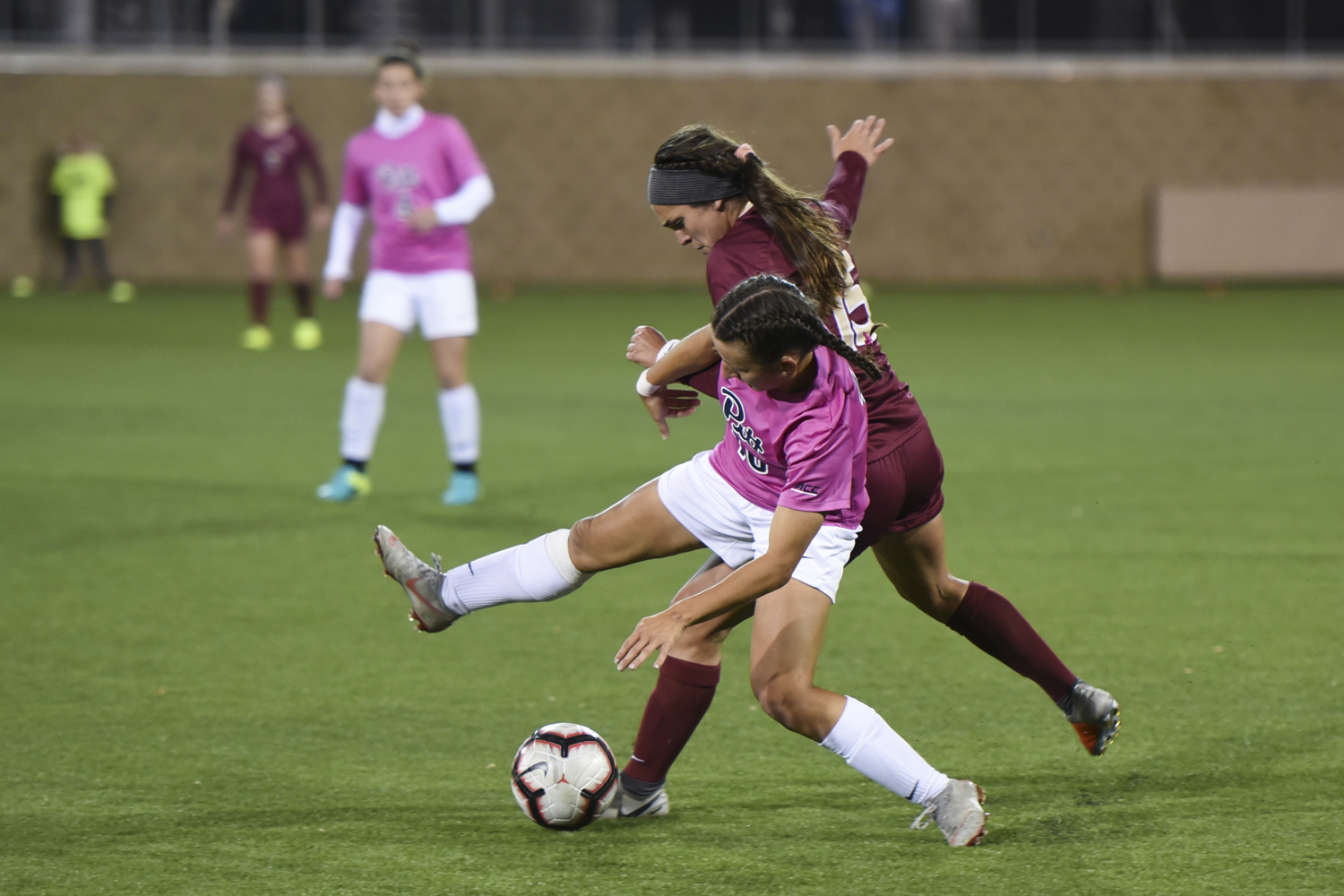 Junior Cheyenne Hudson defends against Florida State during the Panthers' eighth straight loss Thursday night.