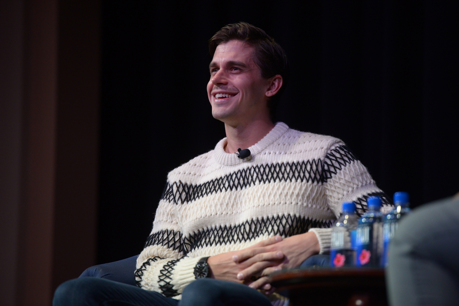 "Antoni Porowski from the television show ""Queer Eye"" spoke to a crowd of more than 200 students at Pitt Program Council's ""An Evening with Antoni Porowski."""